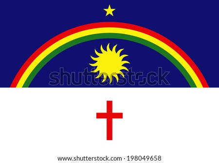 State flag of Pernambuco in Brazil. - stock photo
