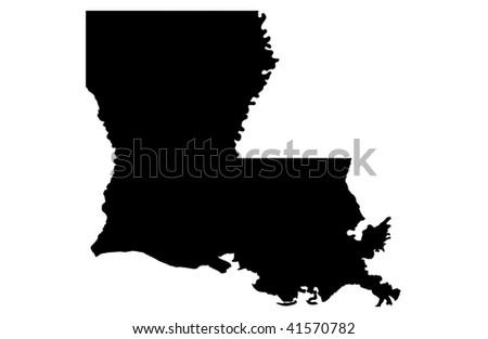 State of Louisiana - white background - stock photo