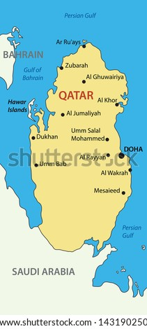 State of Qatar - map