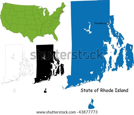 State of Rhode Island, USA - stock photo