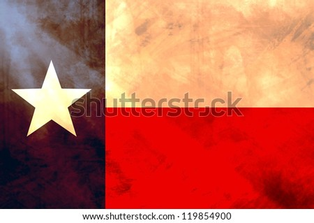 State of Texas flag with vintage feel