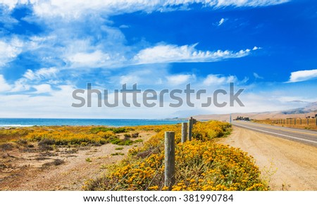 State route one - California shots - stock photo