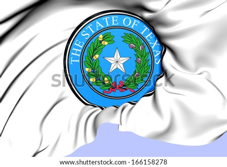 State Seal of Texas, USA. Close Up.   - stock photo