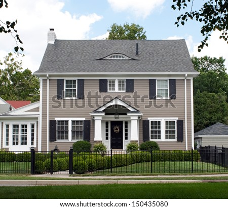 Stately Two Story House - stock photo
