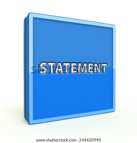 Statement square icon on white background