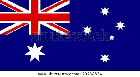 Static Australian flag - stock photo