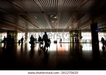 Station hall - stock photo