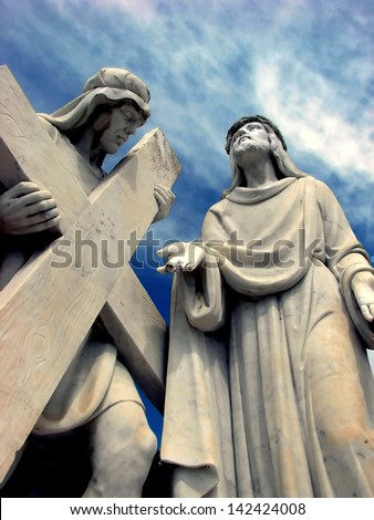 Station of the Cross - stock photo