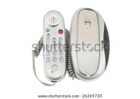 Stationary phone isolated on a white background