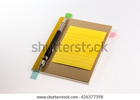 Stationery and office supplies - stock photo