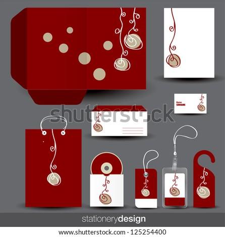 Stationery design set. Vector format in portfolio - stock photo