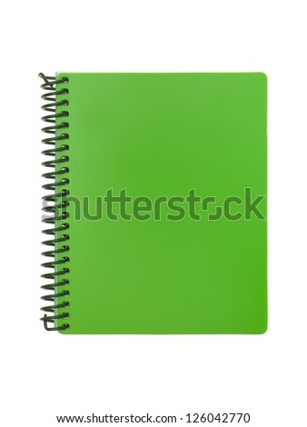 Stationery items isolated against a white background - stock photo