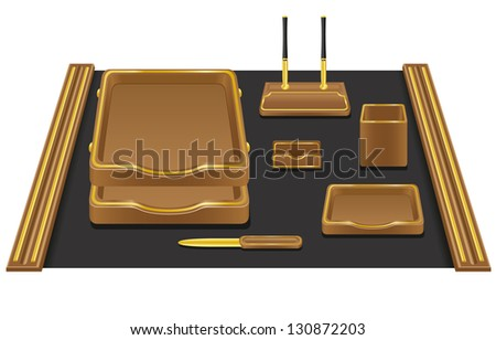 stationery office illustration isolated on white background
