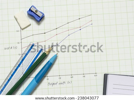 Stationery on graph paper.