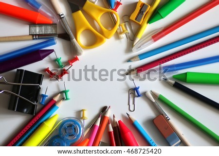 stationery white background