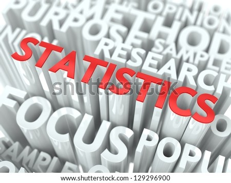 Statistics Background Design. The Word Cloud Concept. - stock photo