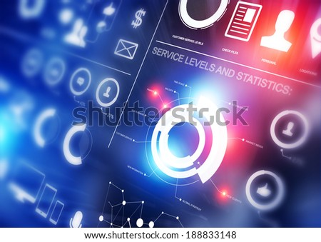 Statistics Business Background - stock photo