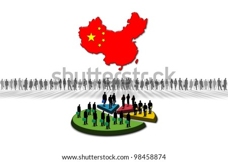 Statistics: China - stock photo