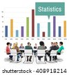 Statistics Financial Management Economics Concept - stock photo