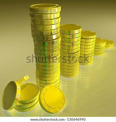Statistics Of Coins Showing Monetary Reports Or Achievements