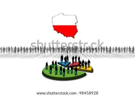 Statistics: Poland - stock photo