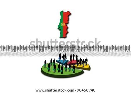 Statistics: Portugal - stock photo