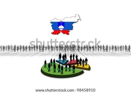 Statistics: Slovakia - stock photo