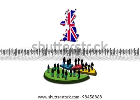Statistics: United Kingdom - stock photo