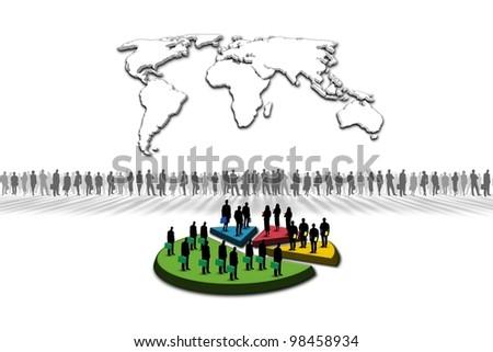 Statistics: World Map - stock photo