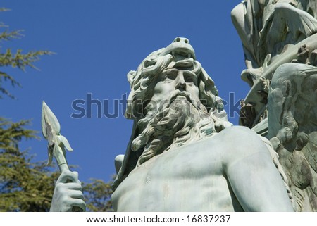 Statue at Miramare Park - Trieste - Italy - stock photo