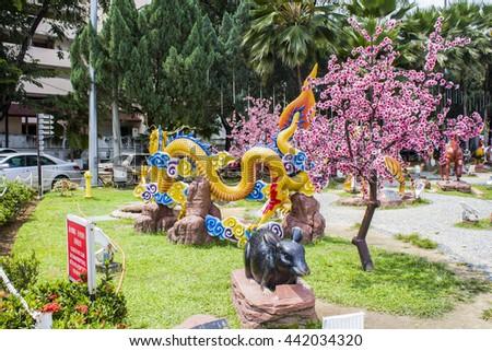 Statue at Thean Hou Temple in Kuala Lumpur, Malaysia - stock photo