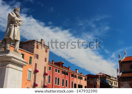 Statue, Building - stock photo