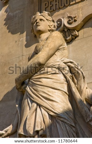Statue from the façade of the French National Academy in Paris