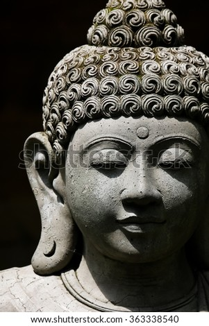 Statue in Bali, Indonesia - stock photo