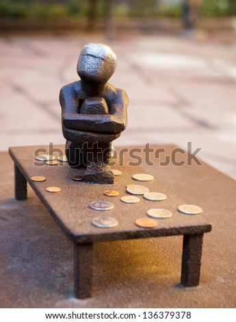 Statue in Old town, Stockholm. - stock photo