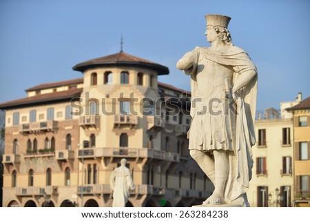Statue in Prato della Valle, Padova, Italy - stock photo