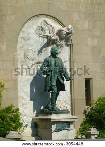 Statue in Switzerland - stock photo