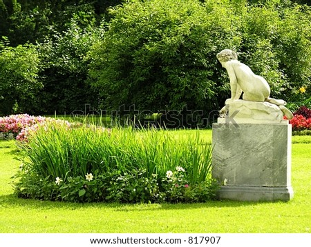 statue in the park - stock photo