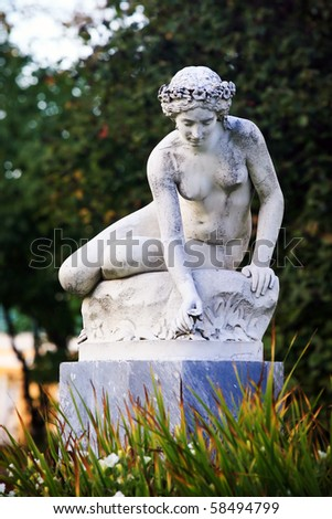 Statue in the park Tsarskoye Selo, Russia