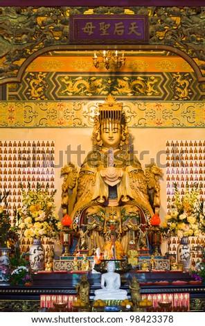 Statue in Thean Hou Temple at Kuala Lumpur (Malaysia) - stock photo