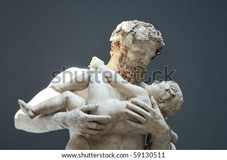 Statue in Vatican Museum - stock photo