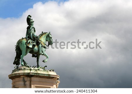 Statue, Lisboa Portugal - stock photo