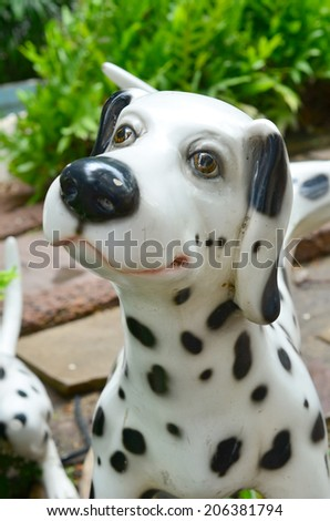 Statue of a dog  - stock photo