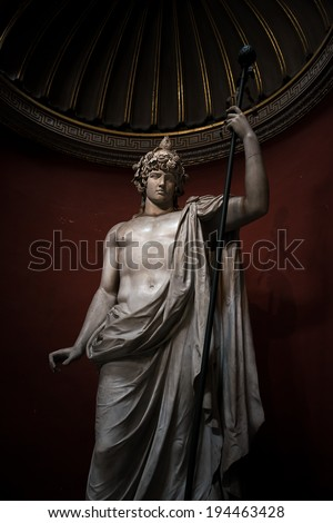 Statue of a young roman warrior, Rome, Italy, 2014 - stock photo