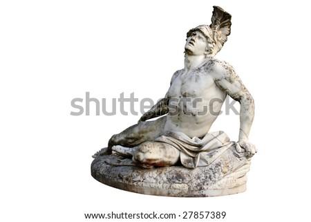 Statue of Achilles in Achillion Palace corfu - stock photo