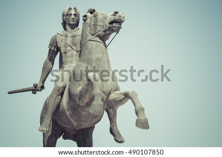 Statue of Alexander the Great in Thessaloniki, Makedonia, Greece