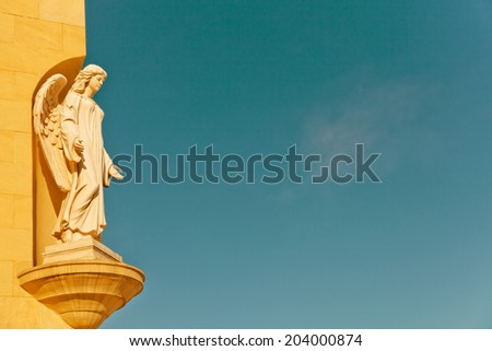 Statue of an angel from a church
