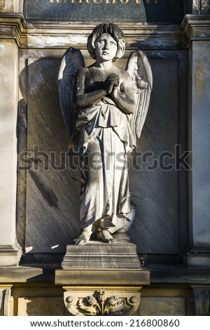Statue of an Angel on cemetery, Berlin, Germany