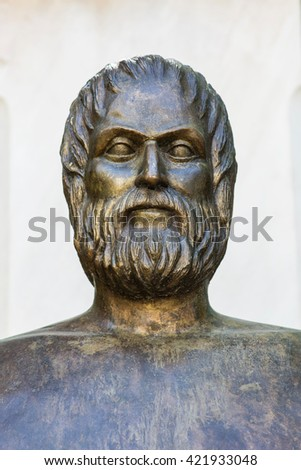 statue of ancient Greek poet Euripides in Athens