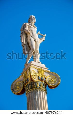 Statue of Apollo,Academy of Athens,Greece